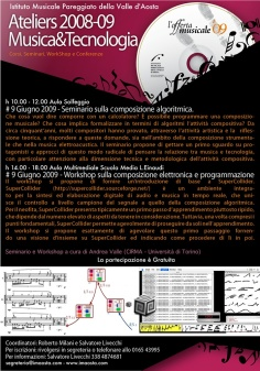 Aosta: seminar and workshop