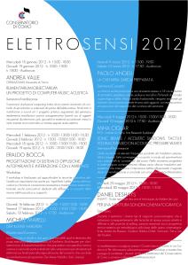 Elettrosensi 2012